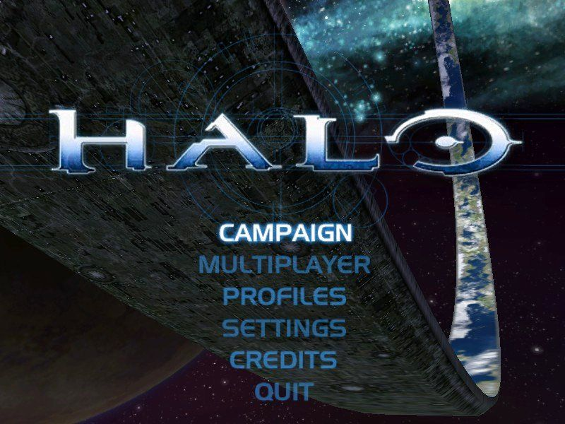 Halo: Combat Evolved Windows The main menu (and a nice view of Halo)