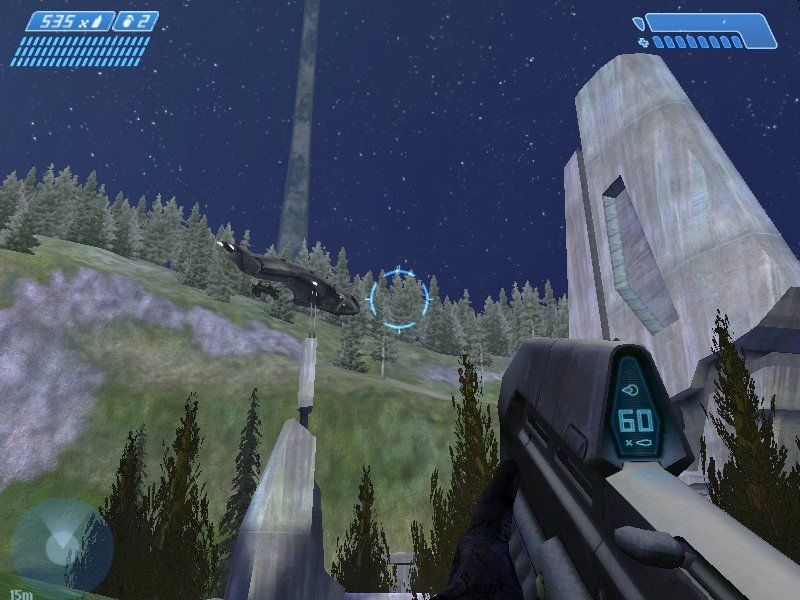 Halo: Combat Evolved Windows A friendly drop ship on approach.
