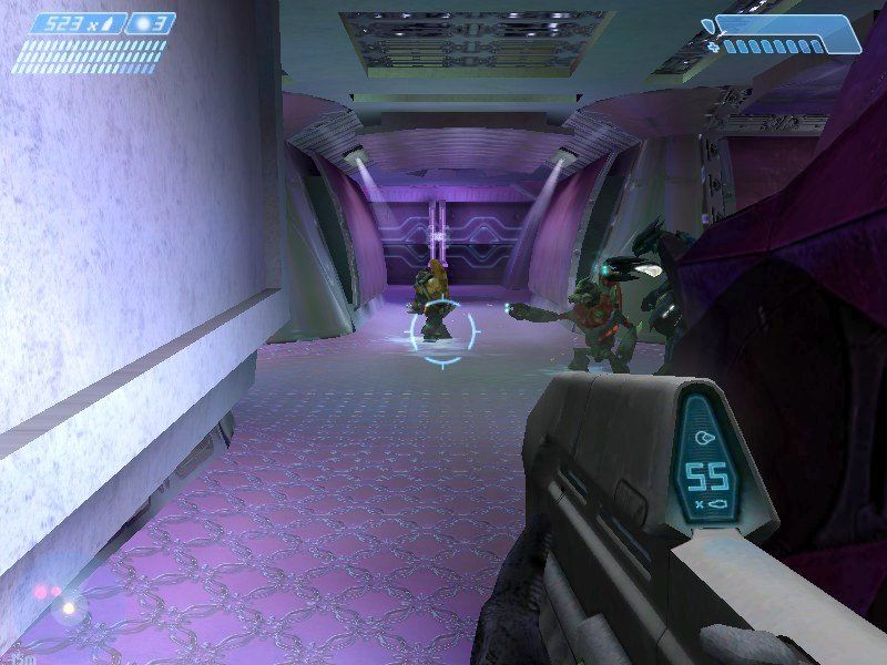 Halo: Combat Evolved Windows It's hard to take the Covenant seriously when the interiors of their battle cruisers are decorated in lavender.