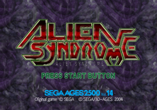 Sega Ages 2500: Vol.14 - Alien Syndrome PlayStation 2 Title Screen: Oliginal Game SEGA