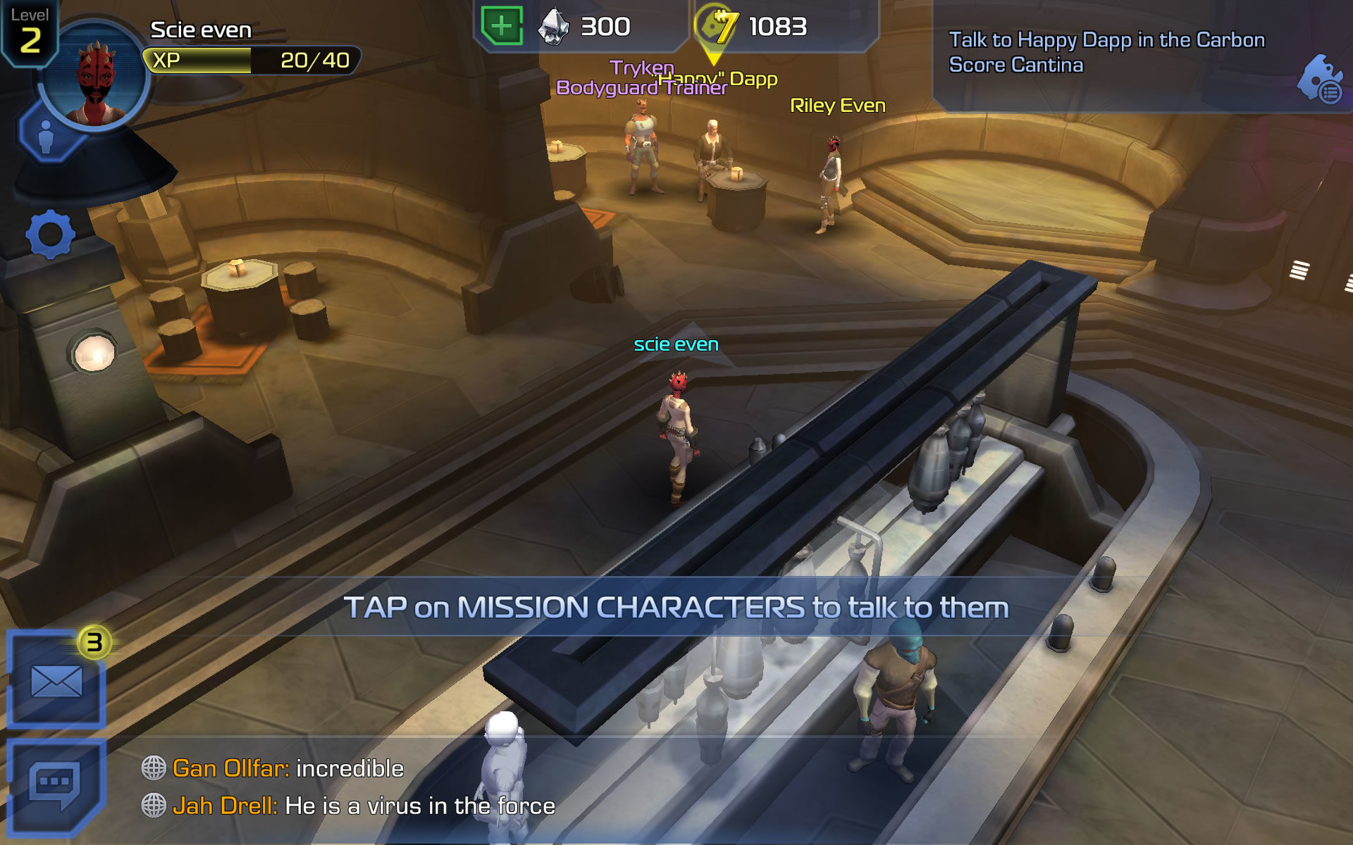 Star Wars: Uprising Android The hub world