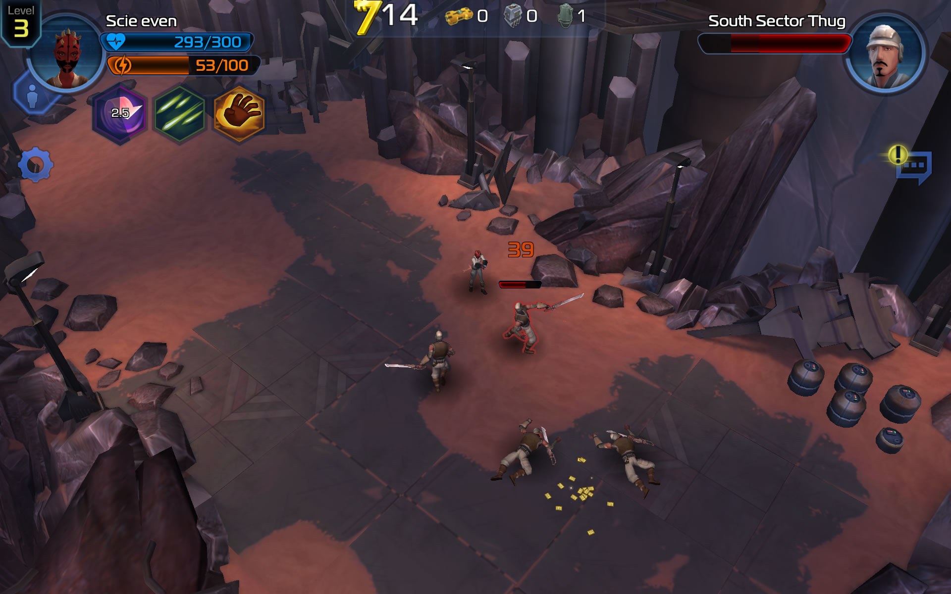 Star Wars: Uprising Android Don't let enemies get too close.