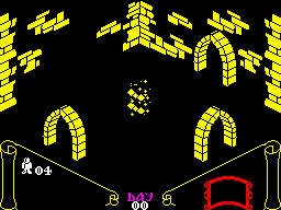Knight Lore ZX Spectrum Beginning a new game.