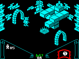 Knight Lore ZX Spectrum How do I get up there?