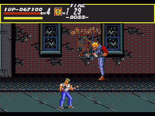 Streets of Rage Genesis Mr. Bad-ass from stage 2
