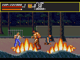Streets of Rage Genesis Stage 3 boss