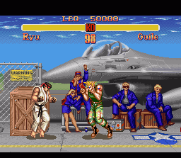 Super Street Fighter II SNES Ryu vs Guile