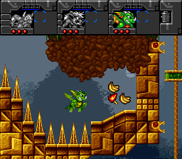 Norse by Norse West: The Return of the Lost Vikings SNES Jungle theme. Scorch can fly for limited time and breathe fire