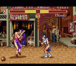 Super Street Fighter II SNES Vega vs Chunli