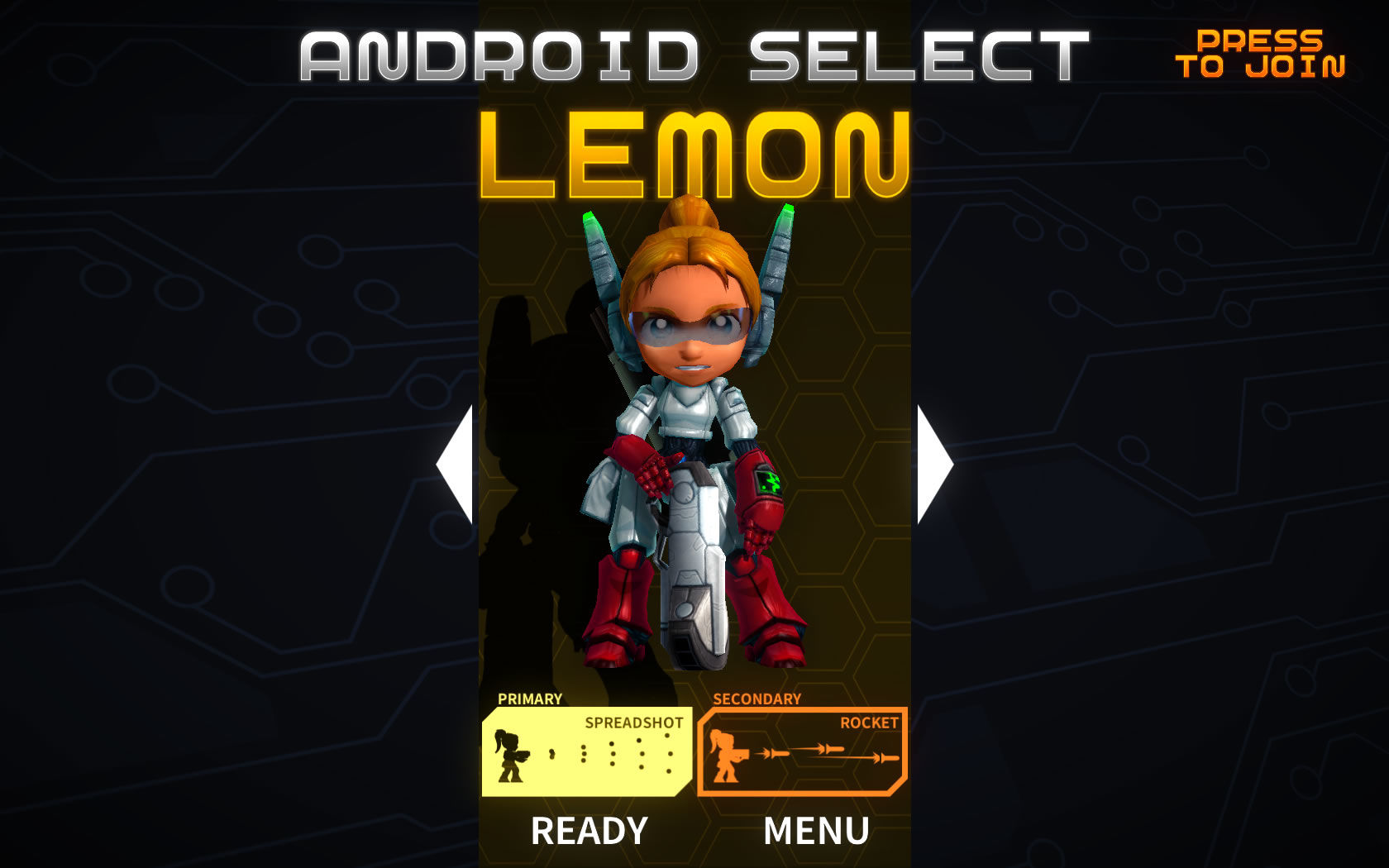 Assault Android Cactus Windows Android selection screen
