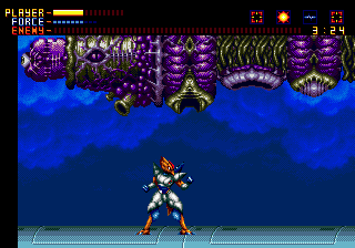 Alien Soldier Genesis Stage 9: Great... rain has stopped, i prefer a real fight more than get wet