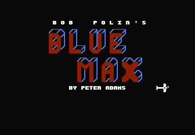 Blue Max Commodore 64 The credits are filled in letters that appear behind the airplane as it moves across the screen.