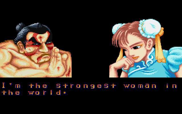 "Street Fighter II DOS ""I'm the Strongest woman in the World"""