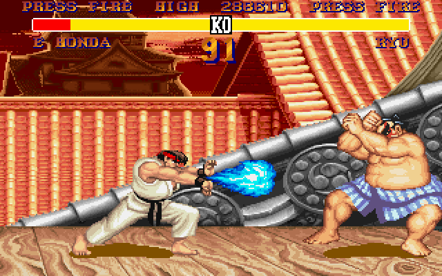 Street Fighter II DOS This Ha-Do-Ken looks different
