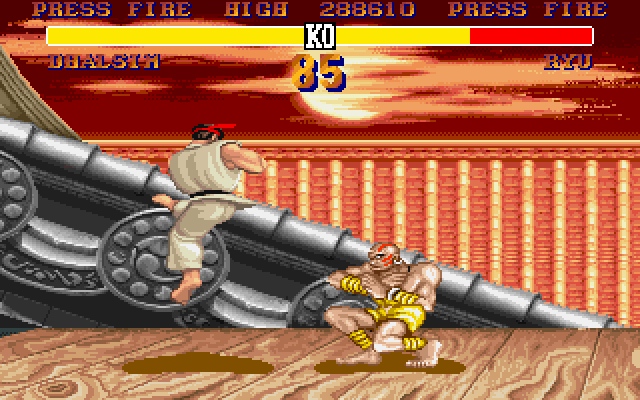 Street Fighter II DOS Good Dhalsim defense