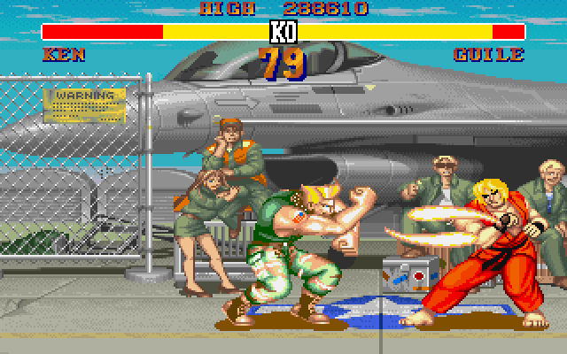Street Fighter II DOS Guile's Sonic Boom