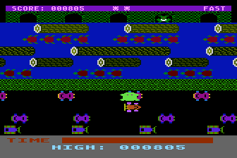 Frogger Atari 8-bit ..and squished (Sierra Harris version)