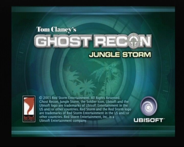 Tom Clancy's Ghost Recon: Jungle Storm PlayStation 2 Main Title