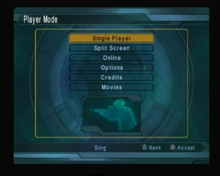 Tom Clancy's Ghost Recon: Jungle Storm PlayStation 2 Main Menu