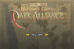 Baldur's Gate: Dark Alliance Game Boy Advance Title screen