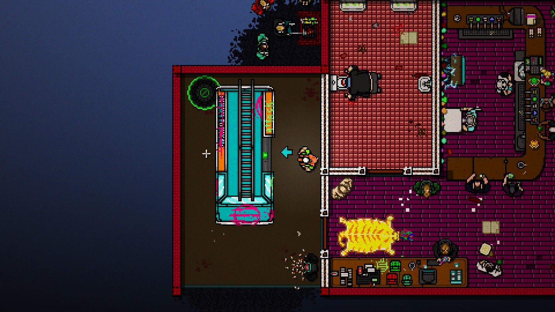 Hotline Miami 2: Wrong Number Windows Enter the car to start.