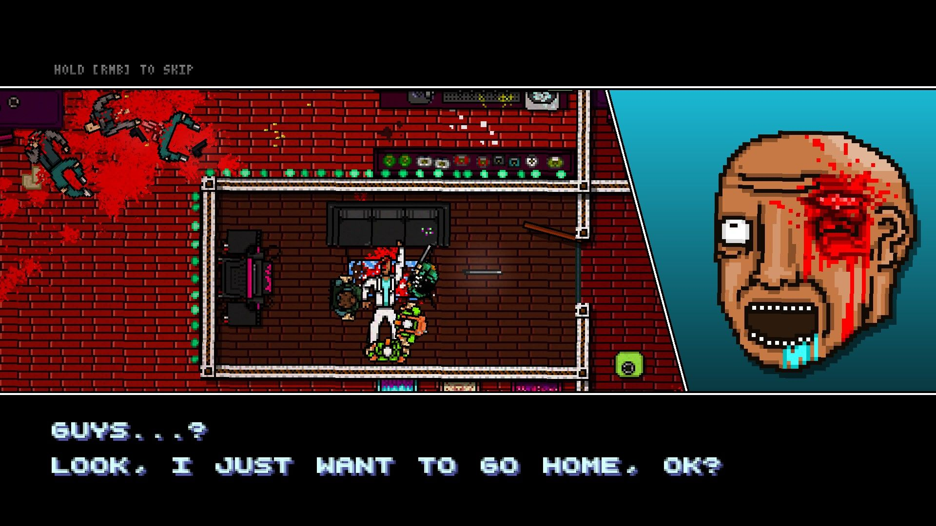 Hotline Miami 2: Wrong Number Windows He's not going home.