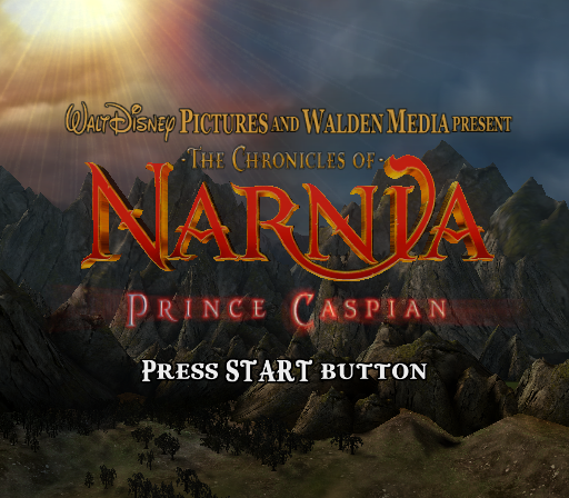 The Chronicles of Narnia: Prince Caspian PlayStation 2 Title screen.