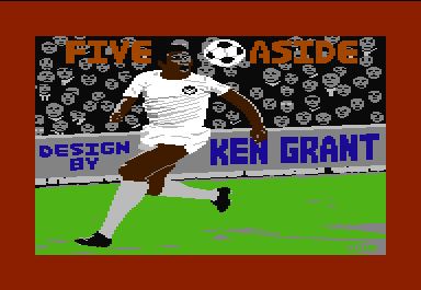 Five-a-Side Soccer Commodore 64 The game's author put his credits in at least two places, including on the background of this second title screen.