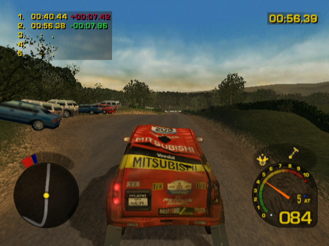 Dakar 2: The World's Ultimate Rally GameCube Now my car is messed up.