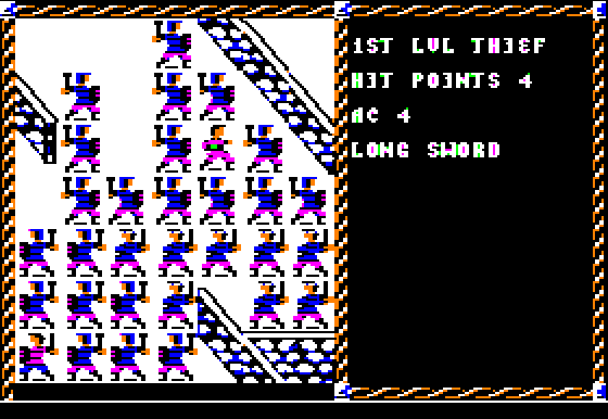 Pool of Radiance Apple II Caught in a <b>huge</b> fight