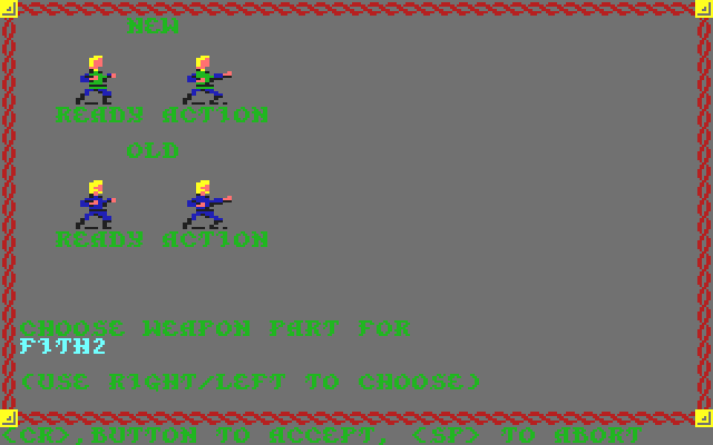 Pool of Radiance Commodore 64 Character <b>editor</b> screen
