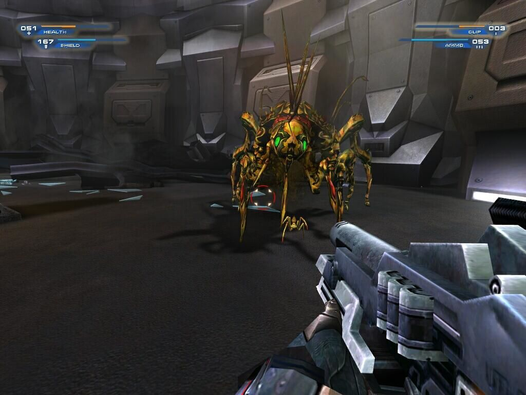 Unreal II: The Awakening Windows Attack of the space spiders!