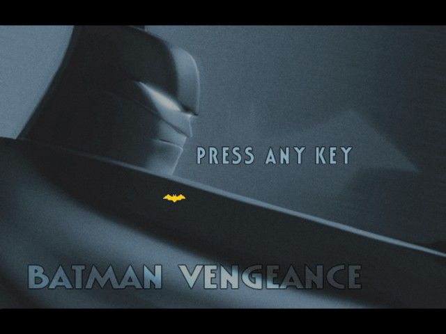 Batman: Vengeance Windows Title screen