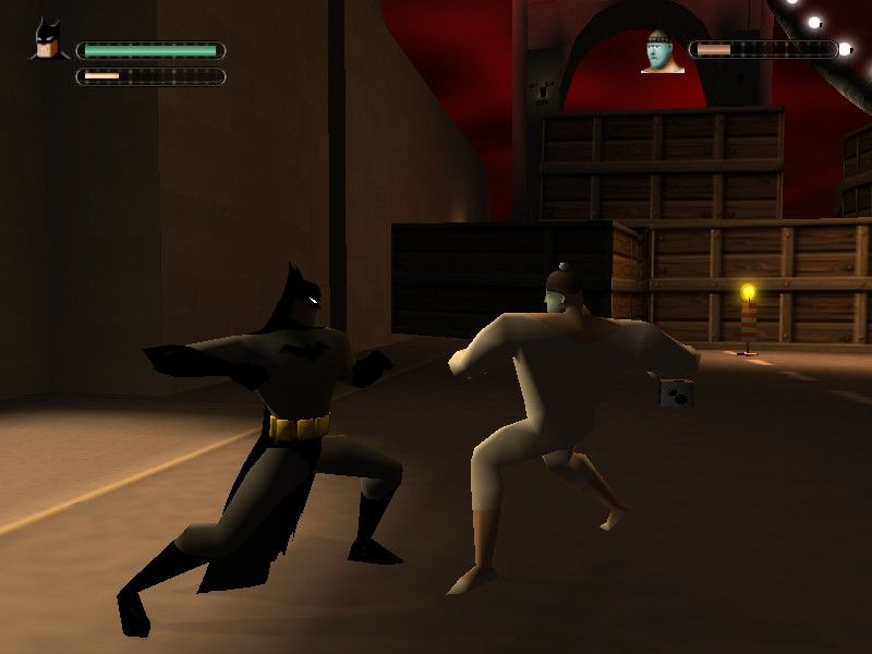 Batman: Vengeance Windows Game is very dark but there is a brightness control