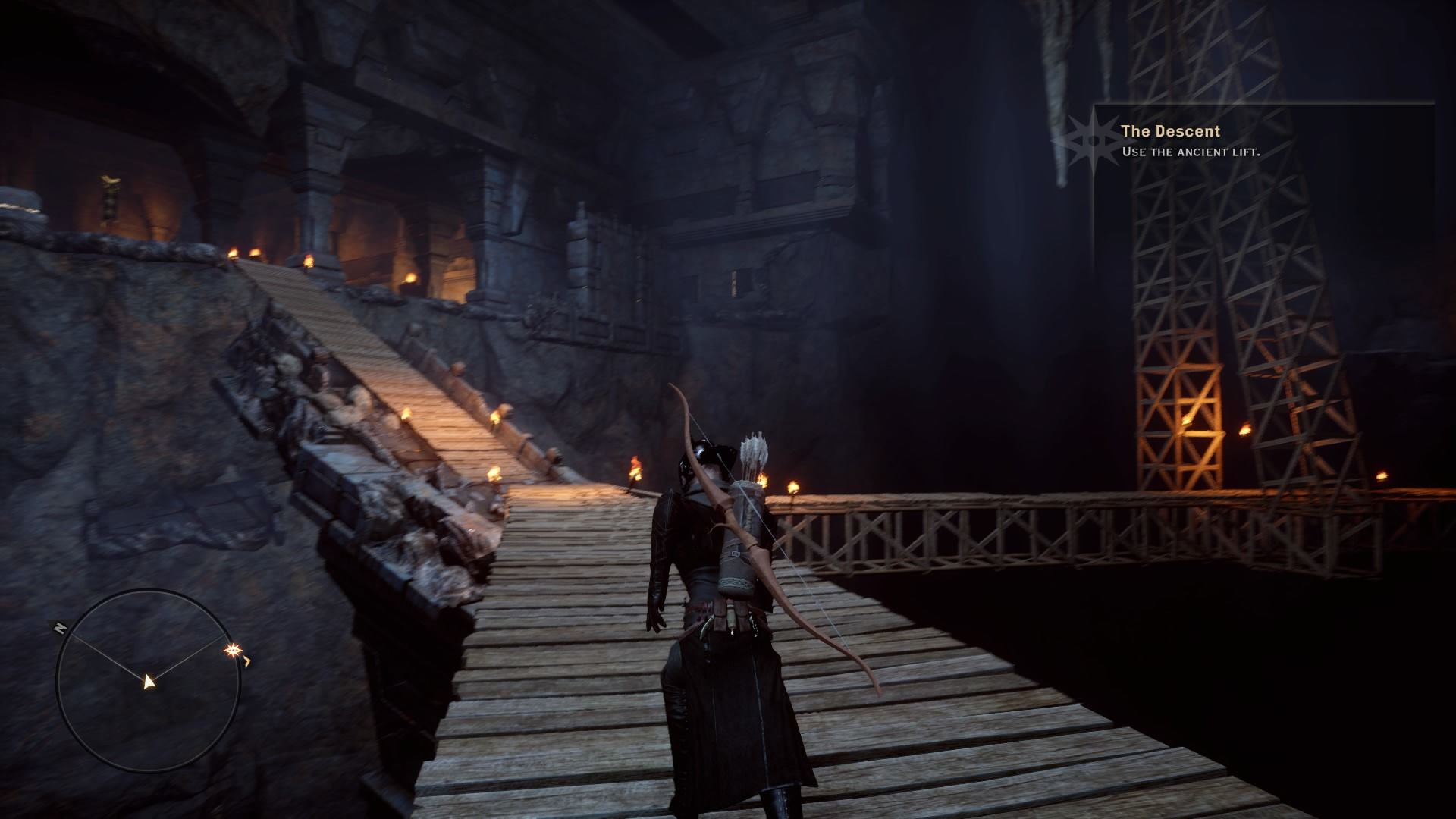 Dragon Age: Inquisition - The Descent PlayStation 4 Building wooden bridges lets you cross the chasms and reach new areas