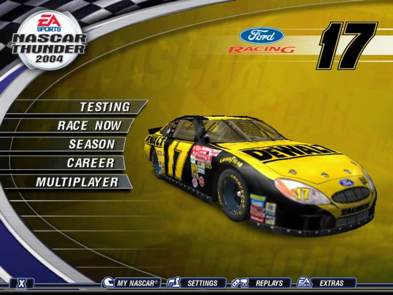 NASCAR Thunder 2004 Windows Main menu