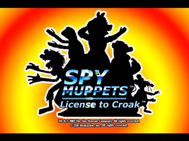 Spy Muppets: License to Croak Windows The title screen.