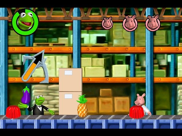 Spy Muppets: License to Croak Windows ... then a battle in the villain's lair (in this case, flinging food)...