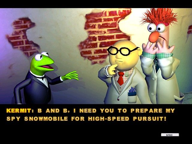 Spy Muppets: License to Croak Windows Many familiar muppets appear in supporting roles.