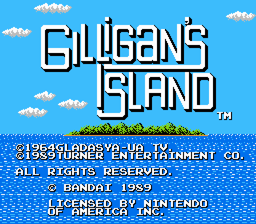 The Adventures of Gilligan's Island NES Game title screen