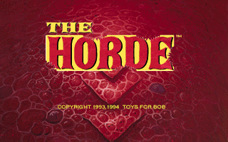 The Horde DOS Title screen