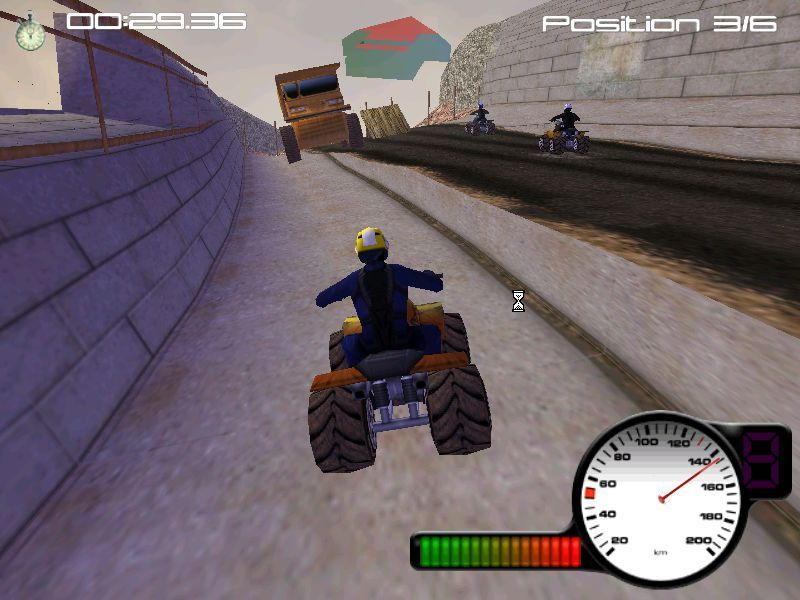 X-Treme Quads Windows The player does not always have to stick to the same track as the AI racers and the jumps are often optional too