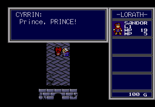 Vay SEGA CD Prince Sandor awakens, miraculously spared from the attack