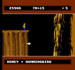 David Crane's A Boy and His Blob: Trouble on Blobolonia NES After using the blob as trampoline, a honey jellybean transforms him into a bird, so that he can follow the boy.