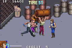 Double Dragon Game Boy Advance Slightly less fun is getting smashed by a barrel, even if it's full of monkeys.