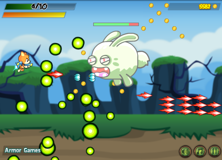 Bear in Super Action Adventure Browser Batteling the Green rabbit