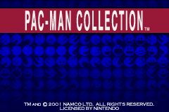 Pac-Man Collection Game Boy Advance Title Screen