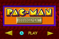 Pac-Man Collection Game Boy Advance Main Menu