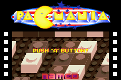 Pac-Man Collection Game Boy Advance Pac-Mania Title Screen