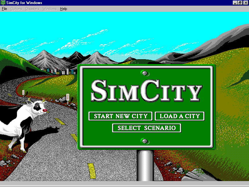 SimCity Windows 3.x Title screen